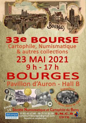 Bourse aux cartes postales, monnaies et autres collections de Bourges