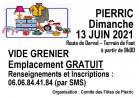 VIDE-GRENIER à PIERRIC (44290) - Dimanche 13 Juin 2021