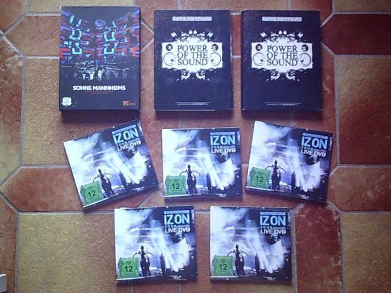 CD & DVD des SÖHNE MANNHEIMS (groupe de Xavier Naidoo)
