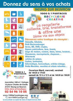 Braderie à la recyclerie de Neung-sur-Beuvron