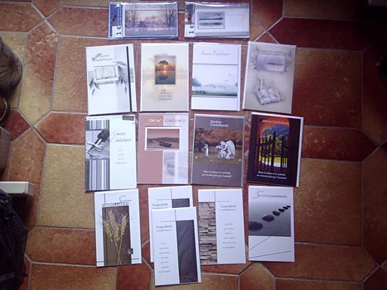 Cartes Spéciales Mariage, Anniversaire, Deuil....