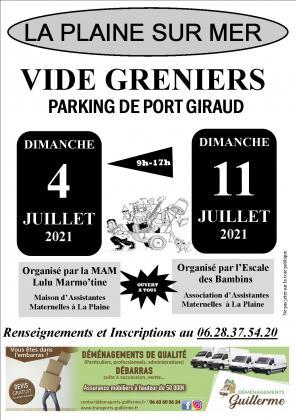 Vide Greniers sur le Parking de Port Giraud à La Plaine sur mer