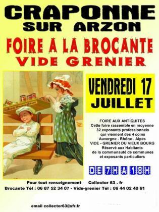 Brocante Vide-Greniers de Craponne-sur-Arzon