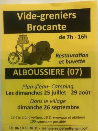 Vide-Greniers - Alboussière