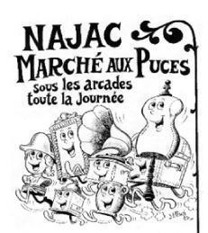 Marché aux puces de Najac