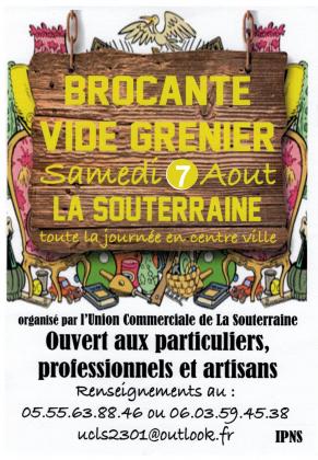Brocante - Vide-Greniers de La Souterraine