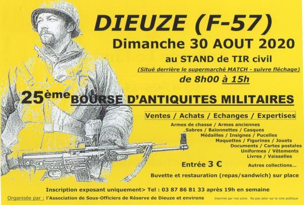 Bourse d'antiquités militaires de  Dieuze
