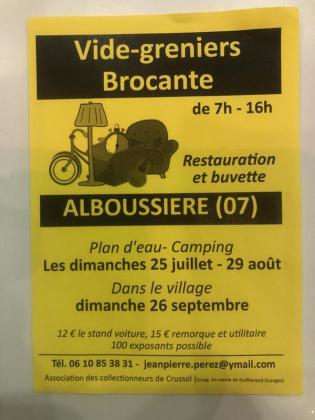 Brocante - Vide-Greniers - Alboussière