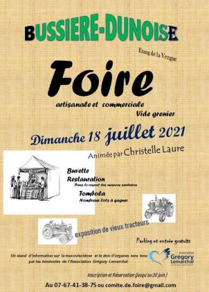 Vide-greniers de Bussière-Dunoise