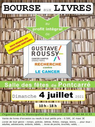 Bourse aux livres au profit intégral de Gustave Roussy