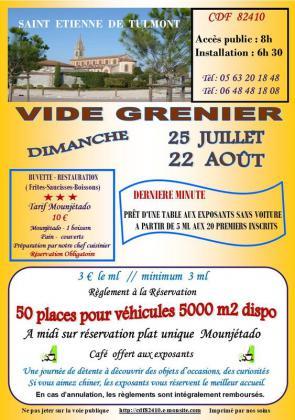 Vide-greniers de Saint-Étienne-de-Tulmont