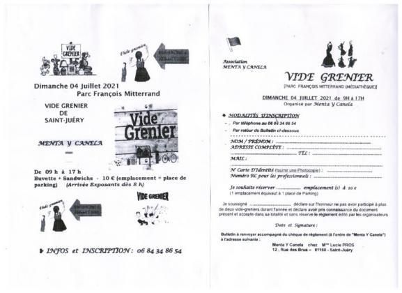 Vide-greniers de Saint-Juéry