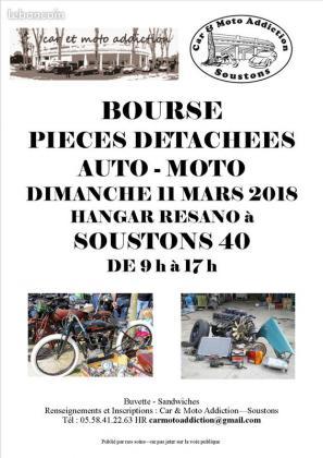 Bourse pièces moto auto - Azur