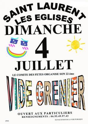 Vide-greniers de Saint-Laurent-les-Eglises