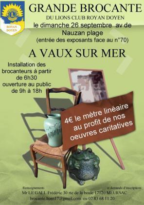 Brocante - Vide-Greniers de Vaux-sur-Mer
