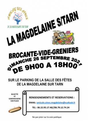 Brocante - Vide-Greniers de La Magdelaine-sur-Tarn