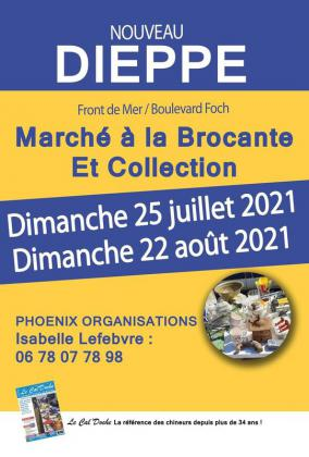 Marché a la brocante et collections de Dieppe