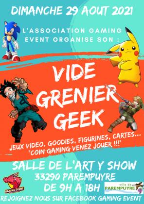 Vide Grenier Geek Jeux video de Parempuyre