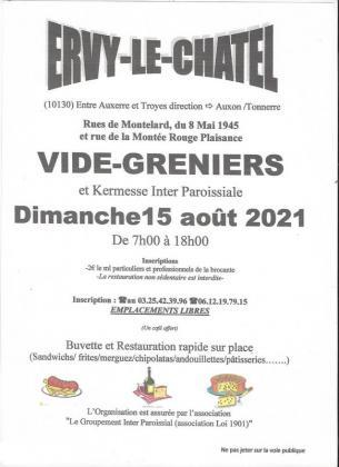 Vide-greniers - Ervy-le-Châtel