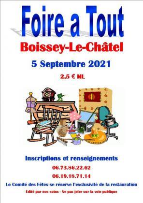 Foire à tout de Boissey-le-Châtel