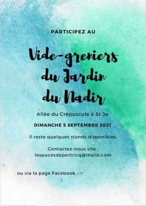 Vide-greniers du Jardin du Nadir