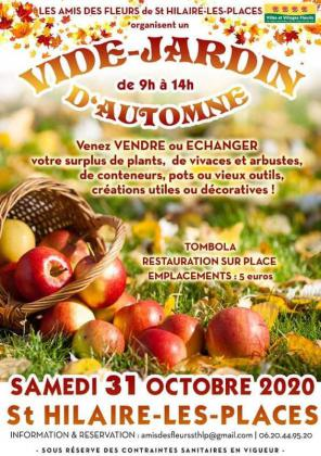 Vide jardin d'automne de Saint-Hilaire-les-Places