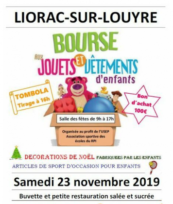 Bourse aux jouets et vêtements d'enfants de Liorac-sur-Louyre