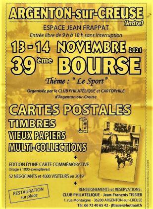 Bourse cartes postales , timbres - Argenton-sur-Creuse