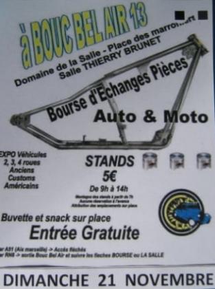Bourse d'échange autos motos de Bouc-Bel-Air