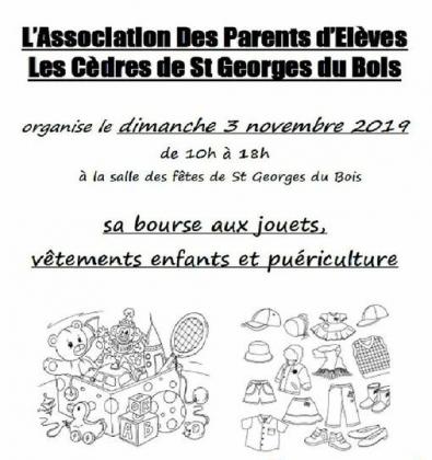 Bourse puériculture, vêtements enfants et jouets de Saint-Georges-du-Bois