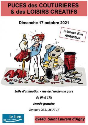 Puces des Couturières et des loisirs créatifs de Saint-Laurent-d'Agny