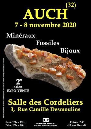 Salon minéraux fossiles bijoux - Auch