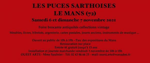 Les Puces Sarthoises - Antiquités Brocante - Le Mans