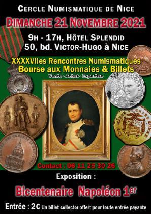 Rencontres numismatiques, bourse aux monnaies et billets de Nice