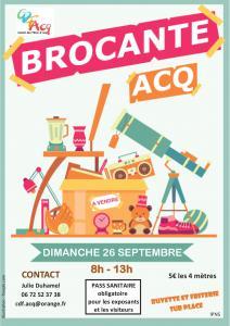 Brocante du dimanche 26 septembre à Acq (62)