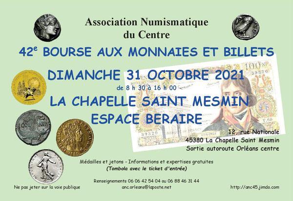 Bourse aux monnaies de La Chapelle-Saint-Mesmin