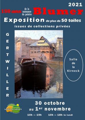 Exposition du peintre Lucien Blumer de Gertwiller