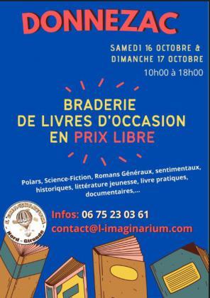 Braderie de livres en prix libre de Donnezac