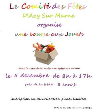 Bourse aux jouets - puériculture - Azy-sur-Marne