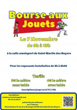Bourse aux jouets, puériculture de Saint-Martin-des-Noyers