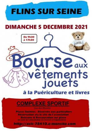 Bourse aux vêtements, à la puériculture , aux jouets de Flins-sur-Seine