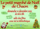 Le petit marché de noël - Chaon
